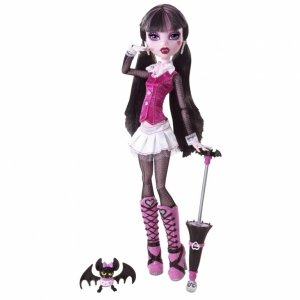 Кукла MONSTER HIGH - Дракулаура базовая с питомцем
