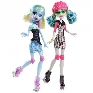 Сет из 2 кукол MONSTER HIGH Роллер Мэйз - Гулия Йелпс и Эбби Боминэйбл