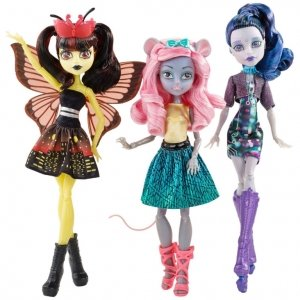Сет из 3 кукол MONSTER HIGH Бу Йорк, Бу Йорк - Мауседес, Луна и Эль
