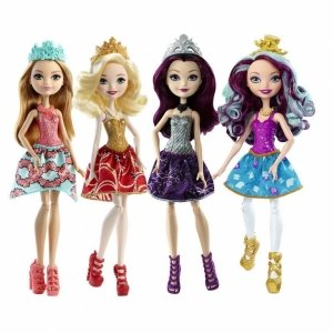 Сет из 4 кукол EVER AFTER HIGH - Эппл Вайт, Рейвен Квин, Меделин Хэттер и Эшлин Элла
